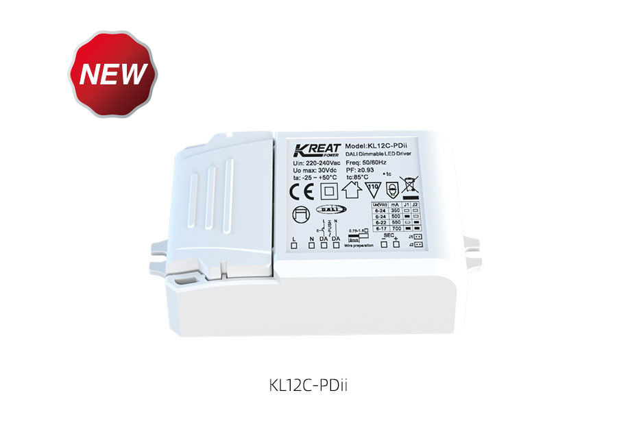 Micro Dimmable LED Driver 12W/20W/35W with Detachable Crimping of C.C. KL12C-PDii / KL20C-PDii / KL35C-PDii